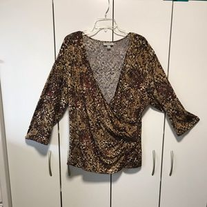 Dress Barn Faux wrap top. Size 3X